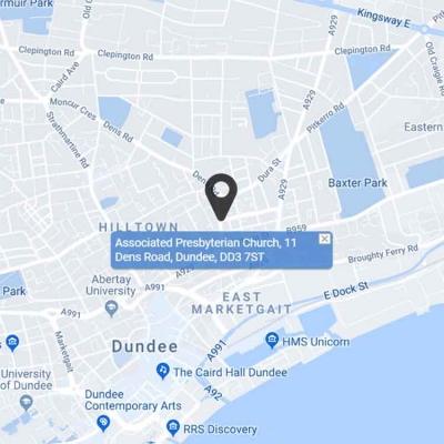 Dundee Associated Presbyterian Church-map